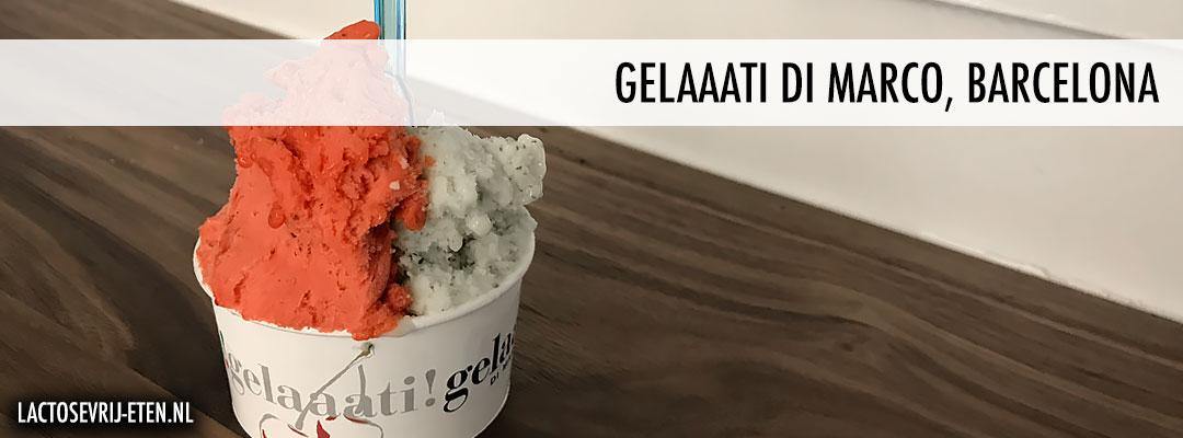 Lactosevrij ijs in Barcelona Aardbeien & Mojito ijs Gelaaati Di Marco