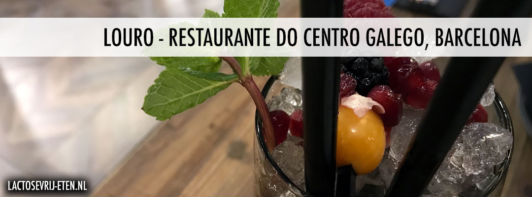 Lactosevrij avondeten in Barcelona Louro Cocktails