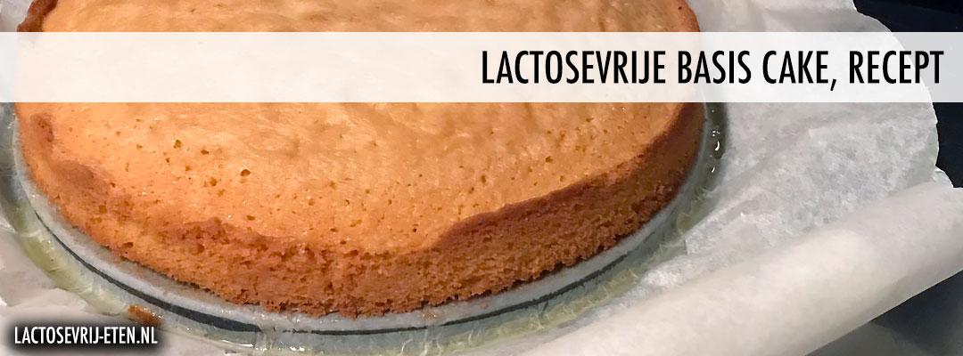 Recept lactosevrije cake bakvorm