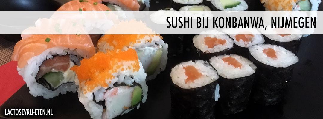 Lactosevrije sushi in Nijmegen Konbanwa