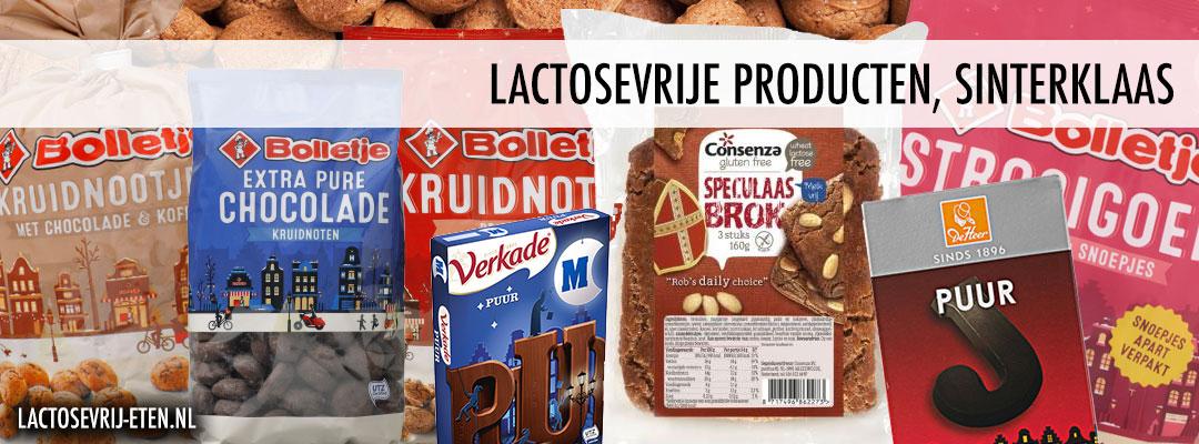 Lactosevrije producten voor Sinterklaas pepernoten en chocoladeletters