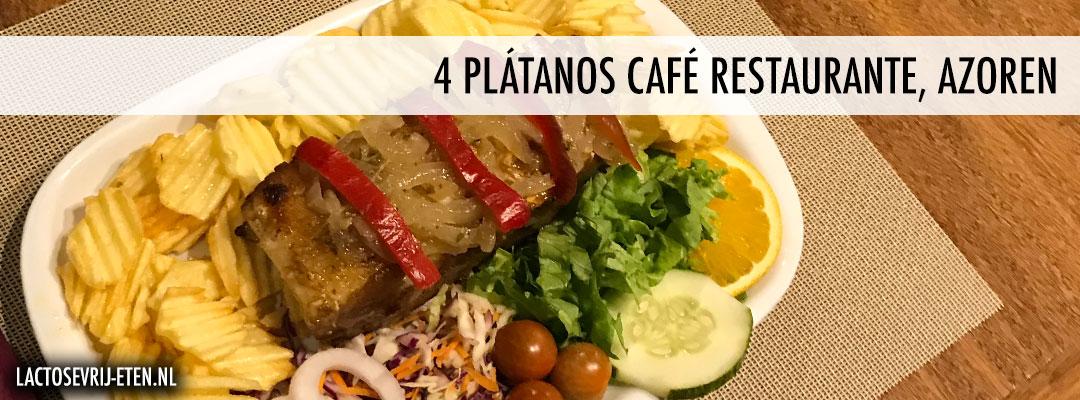 Lactosevrij eten op de Azoren 4 Platanos Cafe Restaurante hoofdgerecht