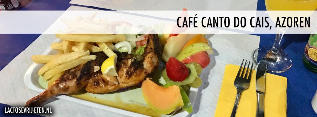 Lactosevrij eten op de Azoren Cafe Canto do Cais hoofdgerecht