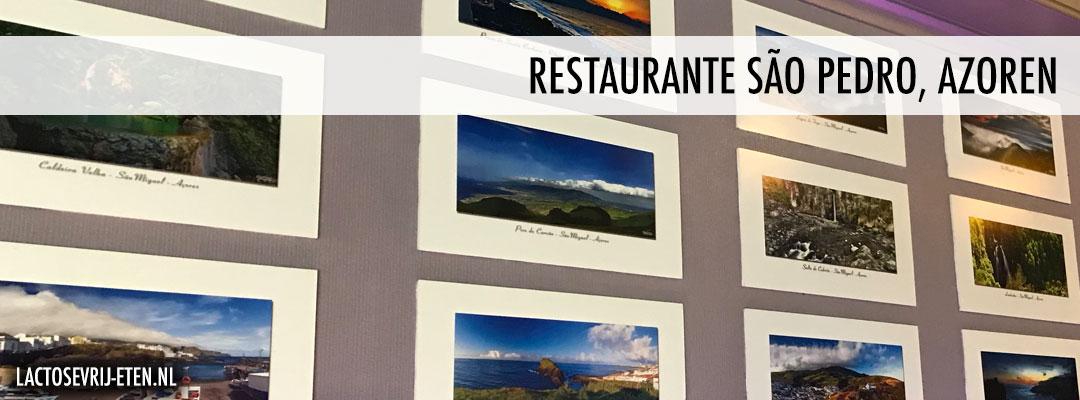 Lactosevrij eten op de Azoren Restaurante Sao Pedro eigenaar