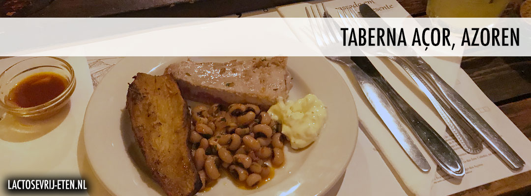 Lactosevrij eten op de Azoren Taberna Acor tonijn steak