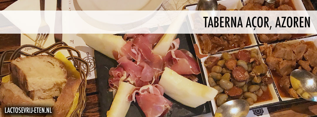 Lactosevrij eten op de Azoren Taberna Acor