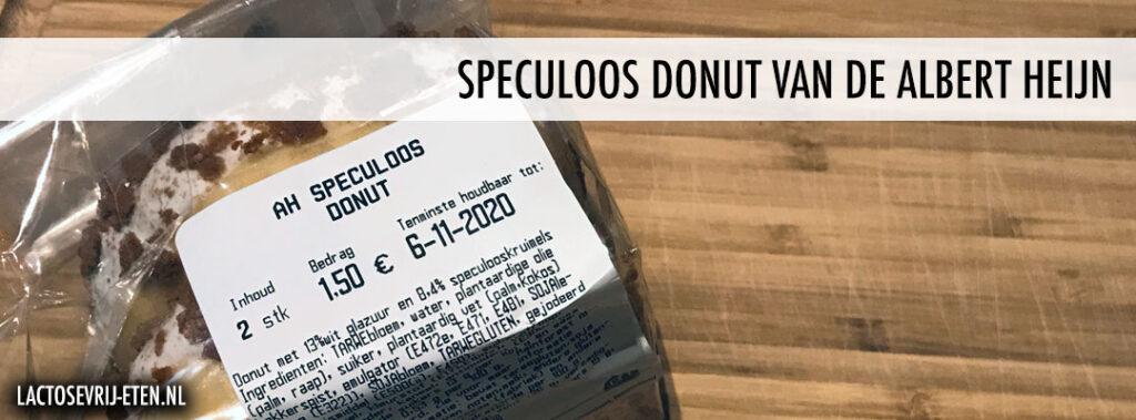 Lactosevrije Speculoos donut van de Albert Heijn