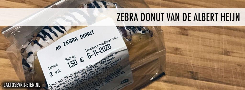 Lactosevrije Zebra donut van de Albert Heijn